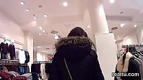 Stellar czech chick gets tempted in the shopping centre and banged in pov's Thumb