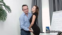 Erotic schoolgirl gets seduced and nailed by her aged teacher