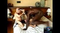 Sexy Angelika Wild tastes small and big black cock at the same time thumbnail