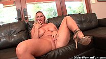 Busty milf Devon Lee gets creampied by older guy