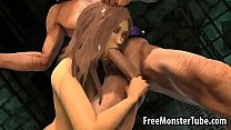 Hot 3D babe sucks cock and gets fucked by Magneto's Thumb