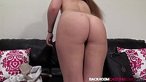 15382 Inked 19yo babe Sami White auditions for anal creampie preview