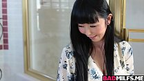 Asian MILF Marica 3some with dauhter and hot stud