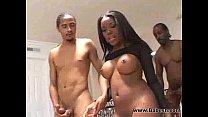 Stunning ebony cutie fuck by two BBC cocks - Download mp4 XXX porn videos
