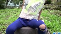 Top rated outdoor POV oral with kinky Mikuru Shiina thumbnail