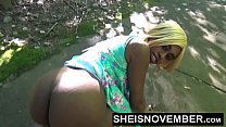 Risky Middle Of Street Blowjob & Big Ass Ebony Booty With Pussy Out For Stranger Msnovember HD Sheisnovember صورة