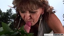 Desperate Granny Ilona Finds a Welcome Surprise Hard Dick at The Field Vorschaubild