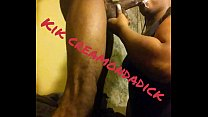 Slobbing up westside dopeman huge dick facial Thumbnail