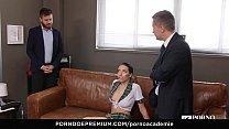 PORNO ACADEMIE - Ukrainian school girl Lola Bulgari has wild anal MMF threesome