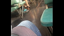 red eurobabe in tram (2)