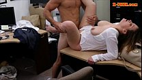 Busty business lady fucked at the pawnshop to e...
