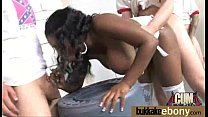 Ebony gets fucked in all holes by a group of white dudes 30 preview image
