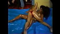 women oil wrestling