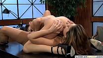 LesbianCUMS.com → Sara Luvv Lesbian Classroom Sex Reena Sky thumbnail