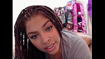 dreadlocks pretty black mixed girl camming -tinycam.org