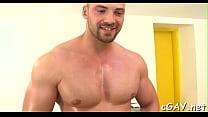 Nice-looking stud is sucking gay stud's long lovestick zealously
