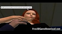 Hot interracial lesbian couple in a 3d cartoon animated game Preview