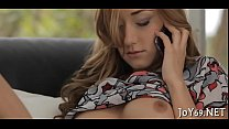 Sweet legal age teenager likes intensive toying video
