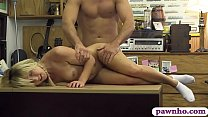 Tiny tits blonde girl railed by pawn man