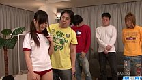 Asian Ryo Asaka sure loves fucking in group