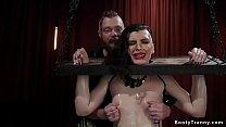 Dude anal fucks tied shemale slave