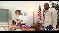 Hardcore interracial porn video
