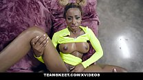 TeamSkeet - Busty Black Teen Sucks A Huge White Cock