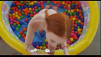 Tiny4k Small breasted ginger Dolly Little fucked after ball pit fun thumbnail