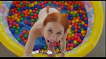 Tiny4k Small breasted ginger Dolly Little fucked after ball pit fun