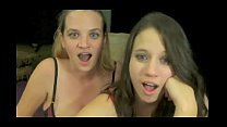 Webcam girls awesome reactions to selfsucking and cum in mouth - more videos on CAMSBARN.com porn thumbnail