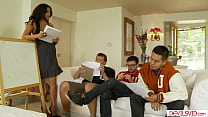 Big Tits Tutor Dp Fucked By 3 College Guys