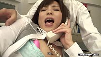 Sasaki the office worker stimulated during her business call