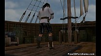 Hot 3D redhead getting fucked hard on a pirate ship
