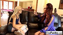 Elsa JEan receives a tough lesson from her busty tutor Holly
