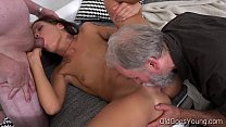 Old Goes Young - Sofia Like fuck with two old guys image