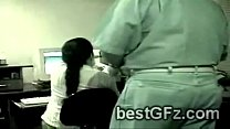 Two horny office workers cant hide how much the...