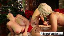 Alison celebrates Christmas by fucking Briana Vorschaubild