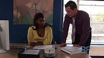 Sexy Jasmine Webb fucking with her boss at work video