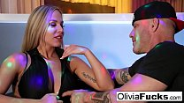Olivia Austin takes on a customer in the VIP's Thumb
