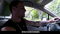 MYLF - Krissy Lynn Blows Her Stepson In The Car