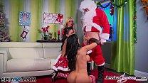 Spizoo - Jessica Jaymes, Nikki Benz and Amy Anderssen fucking Santa's cock - 9Club.Top