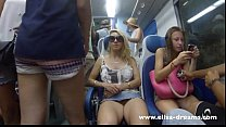 Flashing my pussy in public in Italy thumb