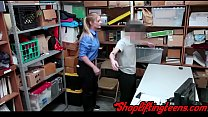 Naughty teen shoplifter gets railed by mall cop