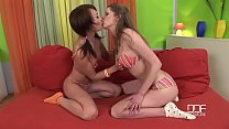 Asian and redhead lesbians sexing socks and feet