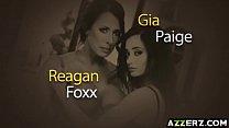Hot threesome fuck massage with Reagan Foxx