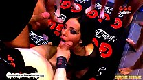 Deepthroat Queen Ashley Cum Star - Extreme Bukkake image