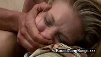 Tied up babe group fucked by hillbillies