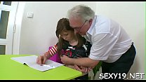 Excited aged teacher gives young babe a vigorous drilling pornhub video