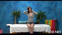 Hot eighteen year old gets fucked from behind hard by her massage therapist! Thumbnail
