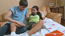 Young tiny stepsister blowjob for fat cock so s... Thumbnail